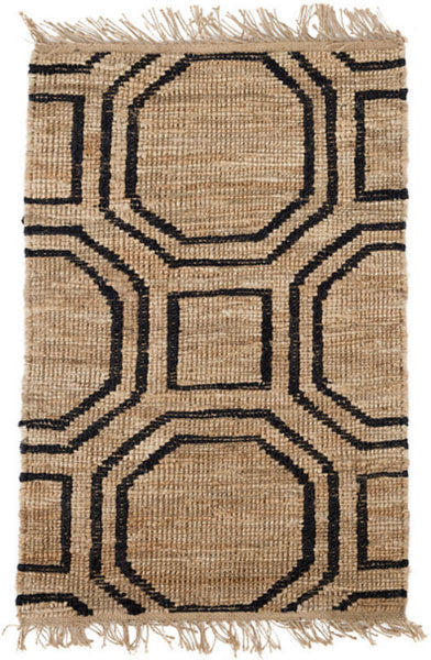 Dash and Albert Hexile Hand Knotted Jute Rug - Lavender Fields