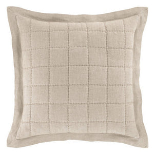 Pine Cone Hill Holden Linen Natural/Denim Quilted Sham