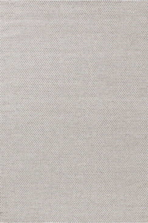 Dash and Albert Honeycomb Ivory/Grey Wool Woven Rug - Lavender Fields