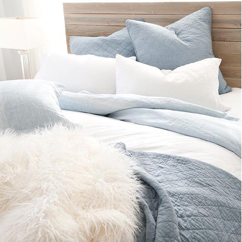 Pom Pom at Home Huntington Dusty Blue Coverlet - Lavender Fields