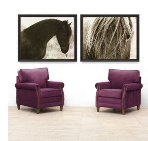 Hyden Horses: Blonde Art Print - Lavender Fields