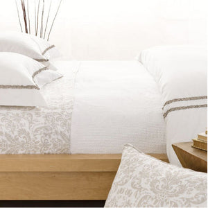 Pine Cone Hill Interlaken White Matelassé Coverlet