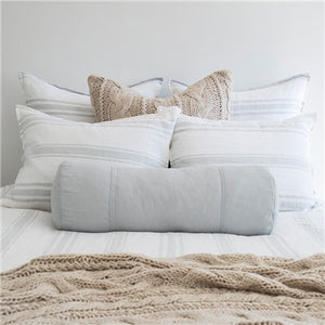 Pom Pom at Home Jackson White/Ocean Stripe Duvet Cover - Lavender Fields