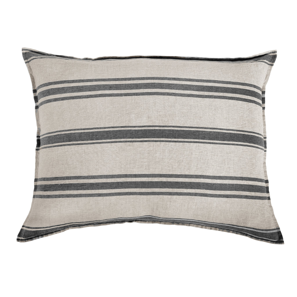Pom Pom at Home Jackson Flax/Midnight Stripe Pillow Sham