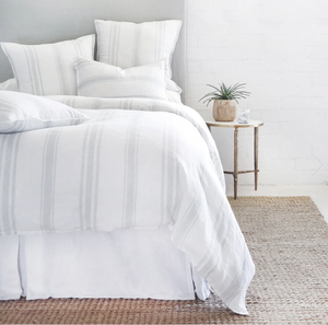 Pom Pom at Home Jackson White/Ocean Stripe Duvet Cover