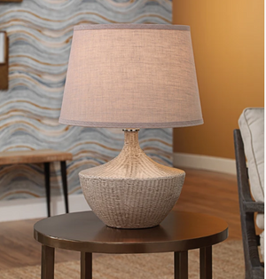 Jamie Young Basketweave Table Lamp - Lavender Fields