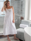 Jacaranda Living Jane White Cotton Nightgown