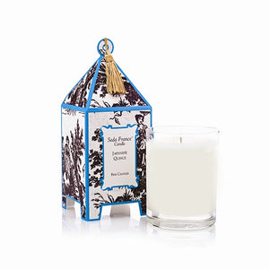 Seda France Japanese Quince Classic Toile Pagoda Box Candle - Lavender Fields