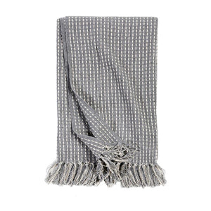 Pom Pom at Home Jasper Handwoven Oversized Throw - Blue/Grey