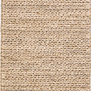 Dash and Albert Jute Woven Bleached Oak Rug - Lavender Fields