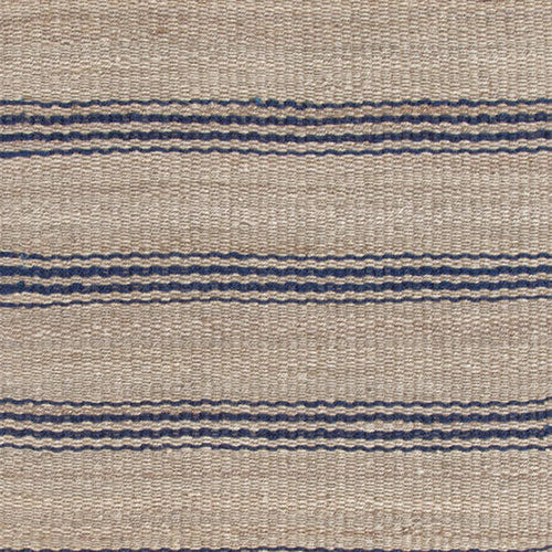 Dash and Albert Jute Ticking Indigo Woven Rug - Lavender Fields