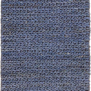 Dash and Albert Jute Woven Blue Rug - Lavender Fields