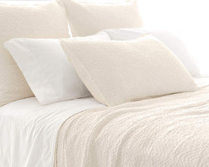 Pine Cone Hill Kerala Ivory Matelasse Coverlet - Lavender Fields