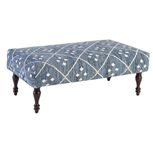 Dash and Albert Kota Indigo Rug Ottoman - Lavender Fields