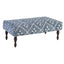 Dash and Albert Kota Indigo Rug Ottoman