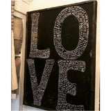 "Sugarboo Designs L-O-V-E Art Print (Grey Wood Frame) 36"" x 25"" - Lavender Fields"