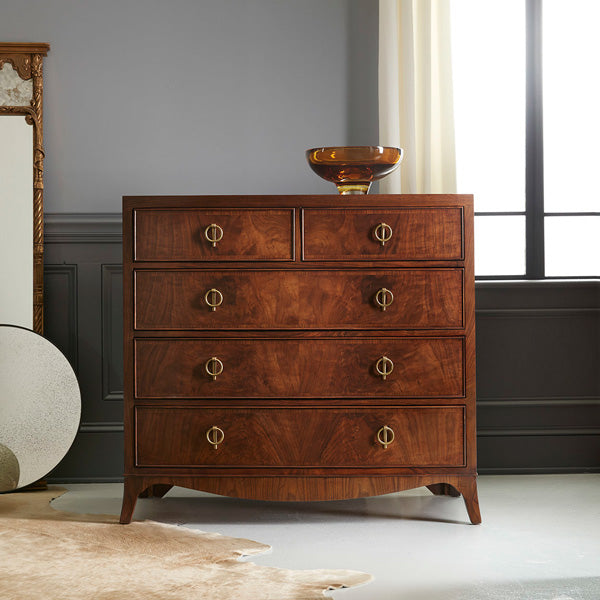 Modern History Large Bowfront Chest