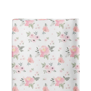 Floral Changing Pad Cover,100% Cotton - Lavender Fields