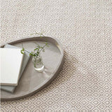 Dash and Albert Lattice Dove Grey Woven Cotton Rug
