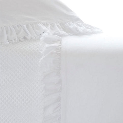 Pine Cone Hill Laundered Ruffle White Pillowcases (Pair)