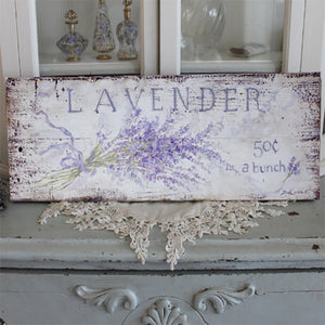 Lavender 50 cents a Bunch Sign by Debi Coules