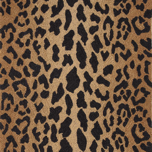 Dash and Albert Leopard Wool Micro Hooked Rug - Lavender Fields