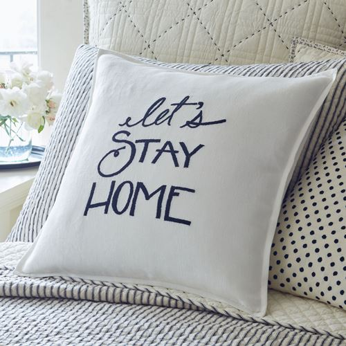 Let's Stay Home Pillow - Lavender Fields