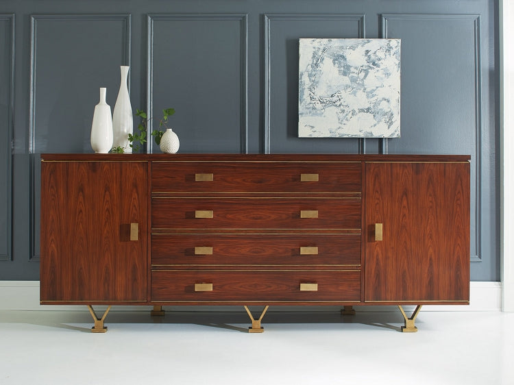 Modern History Linear Credenza in Rosewood - Lavender Fields