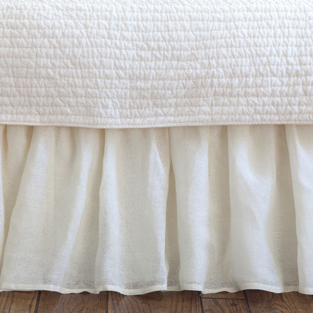 Taylor Linens Linen Voile Cream Bed Skirt