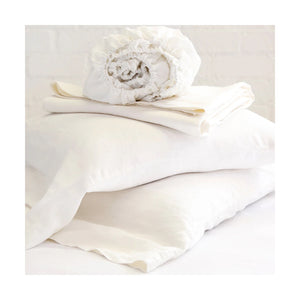 Pom Pom at Home Linen Cream Sheet Set