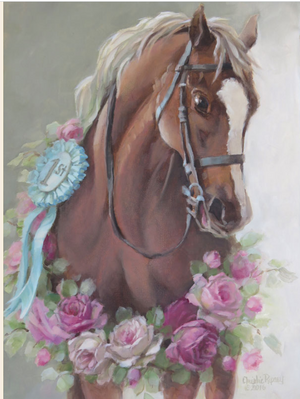 Christie Repasy Lucky Lady Original Canvas Print - Lavender Fields