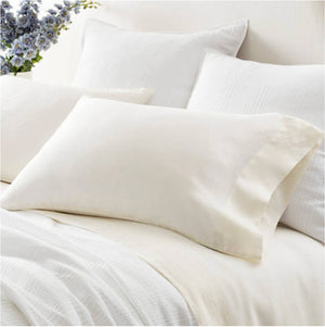 Pine Cone Hill Lush Linen Ivory Pillowcases