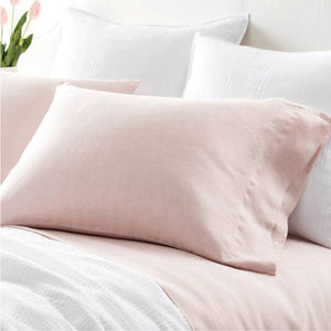 Pine Cone Hill Lush Linen Slipper Pink Pillowcases - Lavender Fields