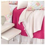 Pine Cone Hill Classic Ruffle White Bed Skirt - Lavender Fields