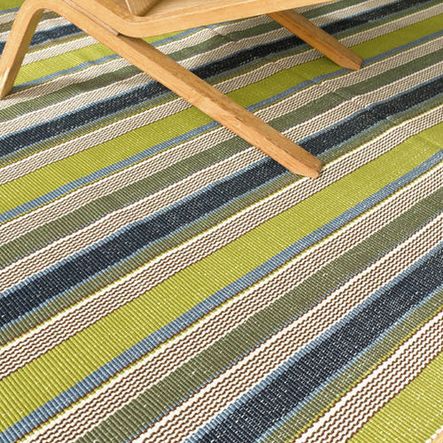 Dash and Albert Marina Stripe Indoor/Outdoor Rug - Lavender Fields