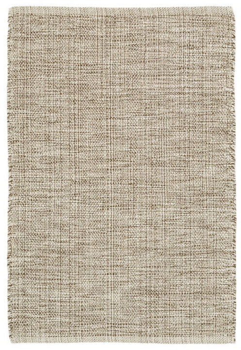 Dash and Albert Marled Brown Woven Cotton Rug - Lavender Fields