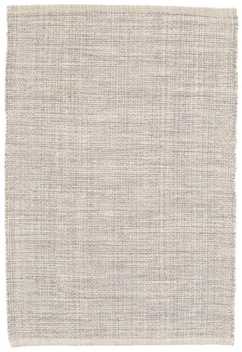 Dash and Albert Marled Grey Woven Cotton Rug - Lavender Fields