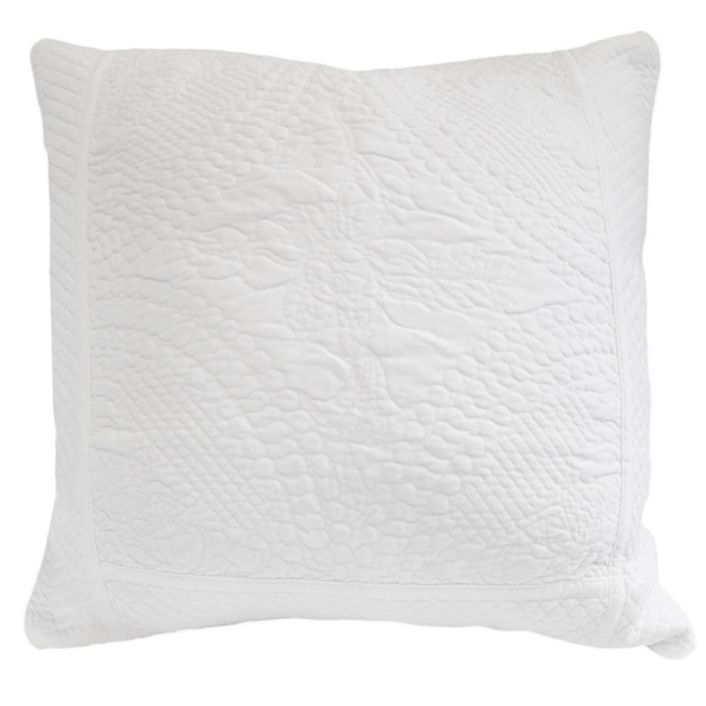 Pom Pom at Home Marseille White Large Euro Pillow Sham - Lavender Fields