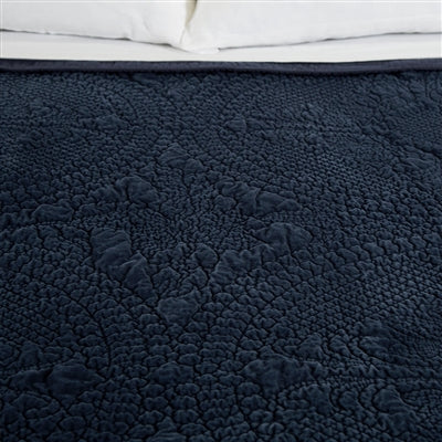 Pom Pom at Home Marseille Navy Large Euro Pillow Sham