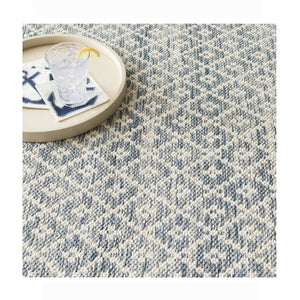 Dash and Albert Melange Diamond Blue Woven Cotton Rug - Lavender Fields