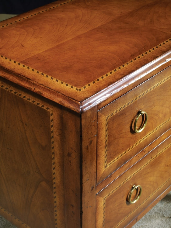 Modern History Two Drawer Fruitwood Commode - Lavender Fields
