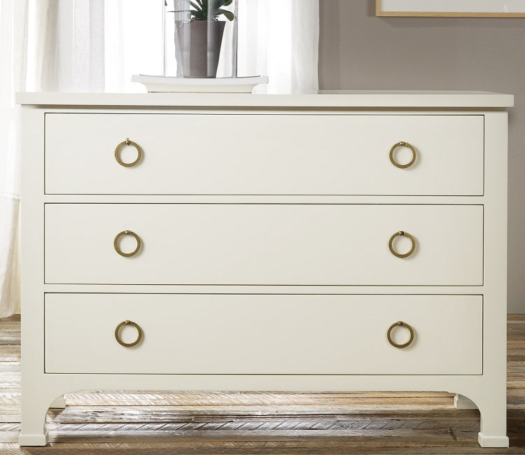 Modern History Three Drawer Painted Commode