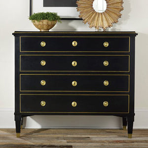 Modern History 19th Century Ebonized Chest