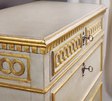 Modern History Painted Regency Bedside Chest - Lavender Fields