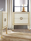 Modern History Retro Nightstand in Cream