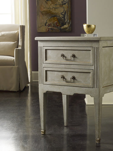 Modern History Manor House Bedside Chest - Lavender Fields