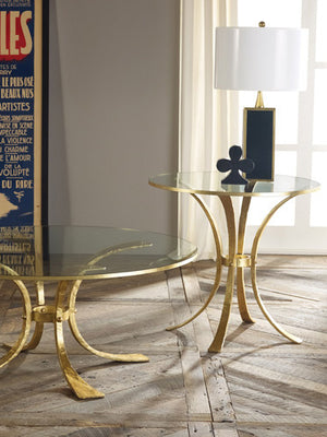 Modern History Retro Gilded Side Table - Lavender Fields