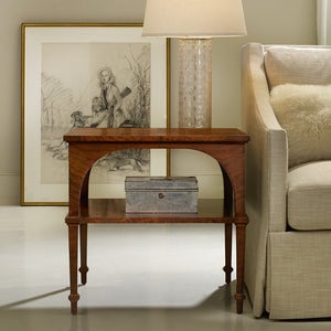 Modern History Classical End Table With Shelf