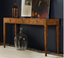 Modern History Three Drawer Console Burl