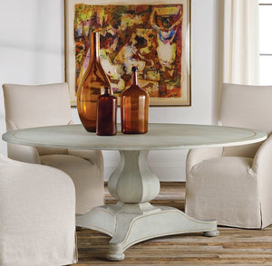 Modern History Continental Dining Table in Antique Grey